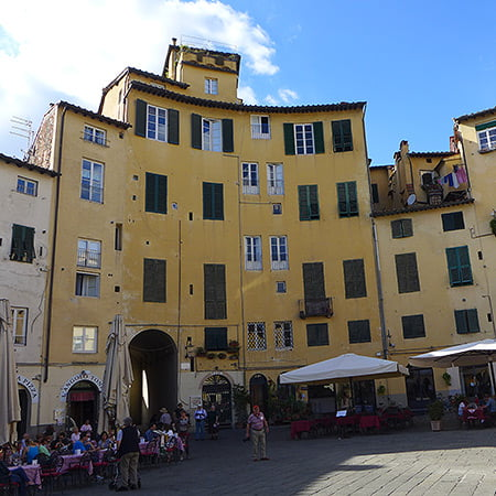 Lucca City Square - where you can eat hand made pasta